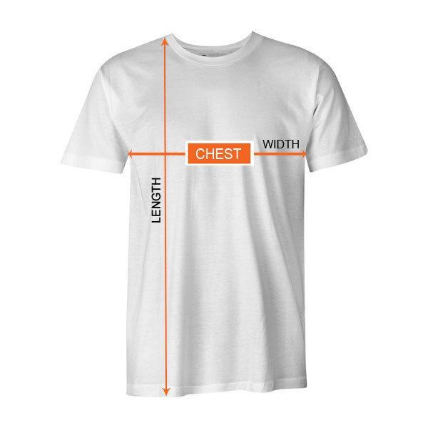 Mens Size Chart TShirt 1